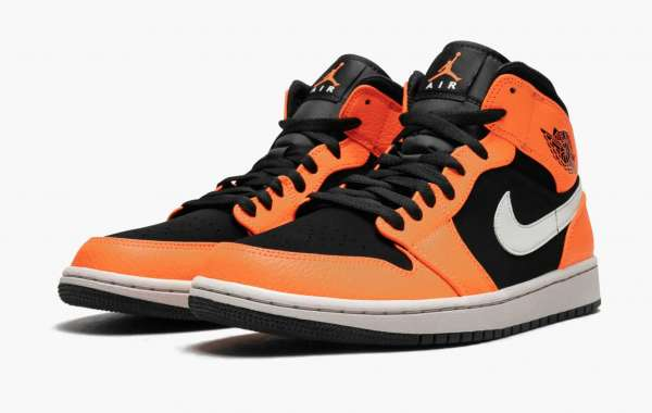 "Best Selling Air Jordan 1 Mid ""Black Cone"" 554724-062 Basketball Shoes"