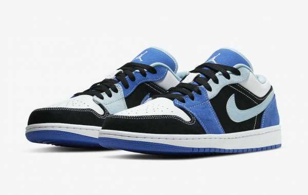 Latest 2021 Air Jordan 1 Low Black Blue DH0206-400